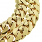 "21 mm 38""/30"" miami cuban chain yellow gold"